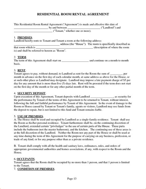 Agreement Letter For House Rental 4 Sle House Rental Agreement Teknoswitch
