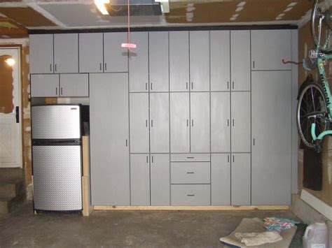 Garage Cabinets Grey Grey Panalame Garage Cabinets From Richins Carpentry In