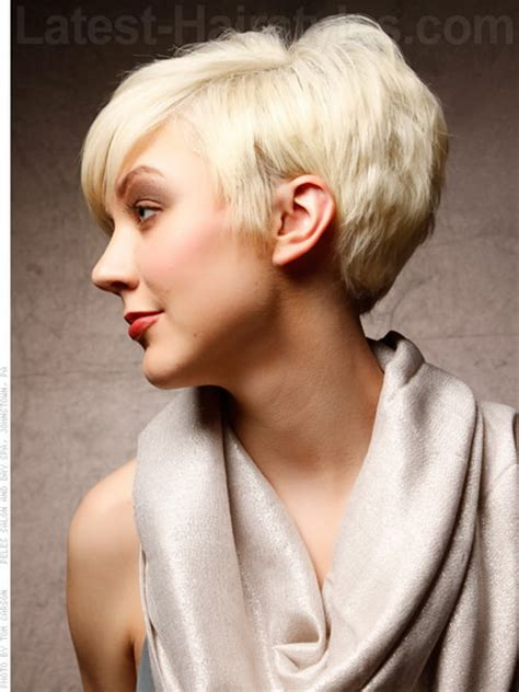 short hair longer on top and over ears one side short haircut