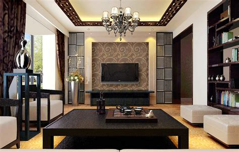 Dark Brown Furniture Design For Chinese Style Living Room Designer Living Room Furniture Interior Design