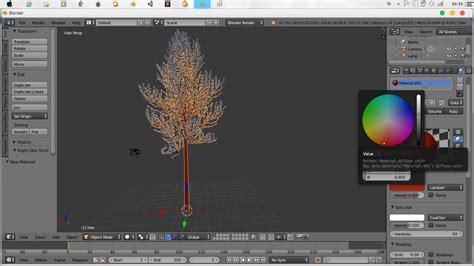 Js Atas 2color Vi rct tutorial blender membuat pohon dengan addon