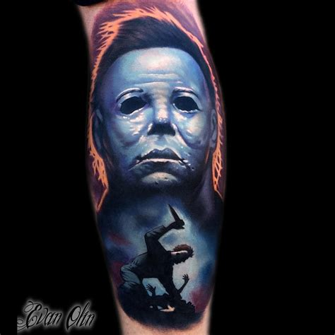 halloween sleeve tattoo designs michael myers best design ideas