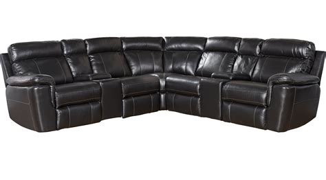 black leather reclining sectional 2 199 99 hudson square black leather 7 pc reclining