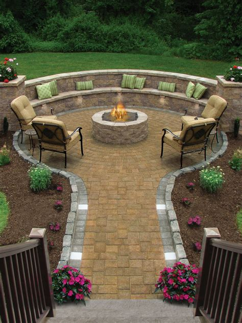 Hardscaping And Landscape Products Susi Builders Supply Patio Ideas With Firepit