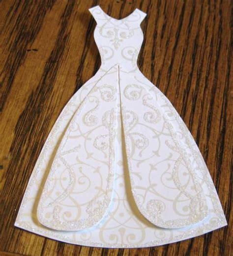 paper craft wedding wedding dress template wedding dress by lpratt cards