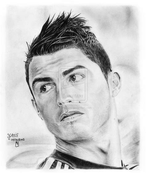 Pencil Drawing Ronaldo