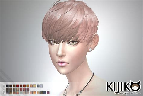 sims 4 short hair short hair with heavy bangs for female kijiko