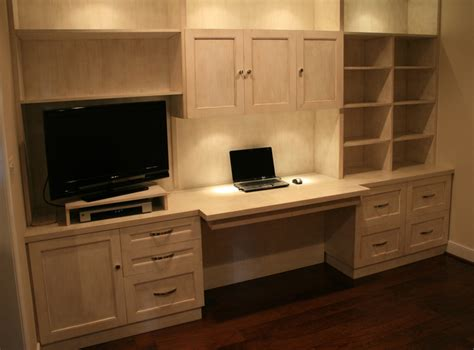 Built Ins With Desk by Custom Built In Desk
