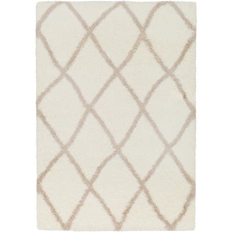 hanford shag rug home decorators collection hanford shag light oak 5 ft 3 in x 7 ft 5 in area rug