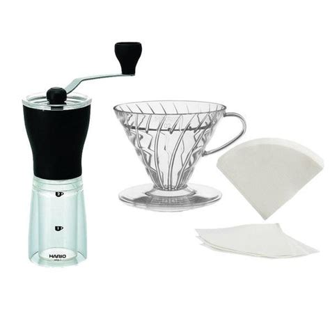 V60 Coffee hario v60 pour travel bundle with mini mill coffee grinder cape coffee beans