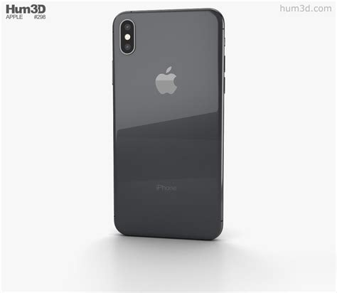apple iphone xs max space gray 3d model electronics on hum3d