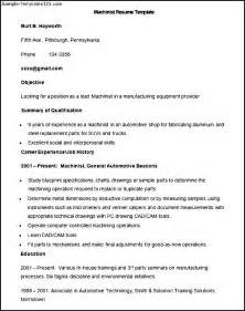 Cnc Machinist Resume Template by Sle Resume Cnc Programmer Ebook Database