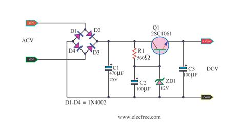 simple voltage regulator with zener diode zener diode voltage regulator circuit eleccircuit
