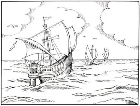 los tres barcos de cristobal colon en dibujo dibujo de las tres carabelas de cristobal col 243 n para