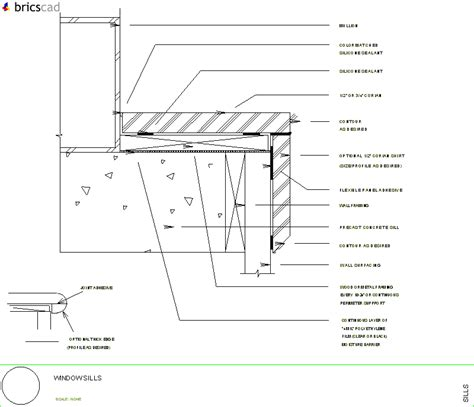 Window Sill Installation How To Install Window Sills Aia Cad Details Zipped Into