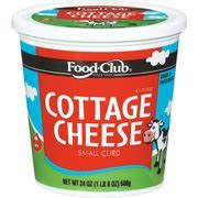 food club cottage cheese small curd calories nutrition