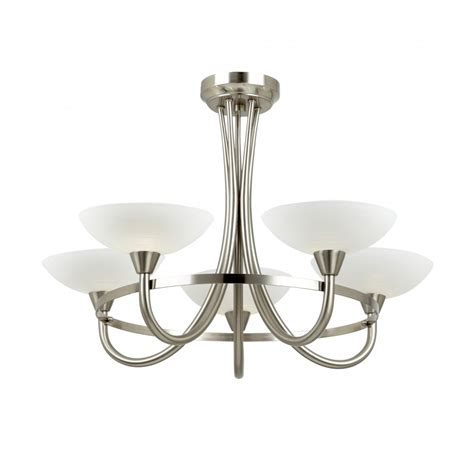 5 Light Ceiling Light by Cagney 5sc Satin Chrome Ceiling Light 5 Light Cagney Ceiling Light