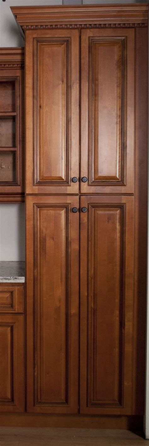 Pantry Cabinets With Doors by Corner White Wooden Pantry Cabinet With Many Shelves