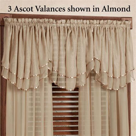 emelia sheer voile double ascot valance window treatment ascot valance 28 images united solid color faux silk