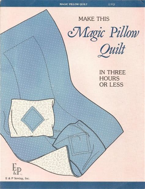 pattern for magic pillowcase vintage magic pillow quilt sewing pattern quillow