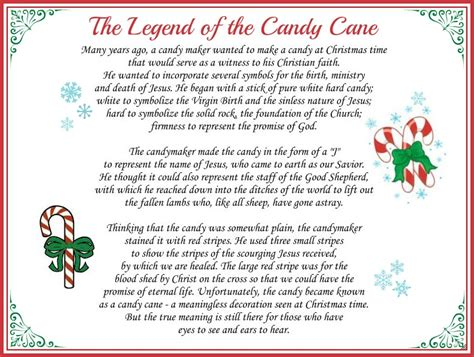 printable a christmas story the legend of the candy cane free printable and a