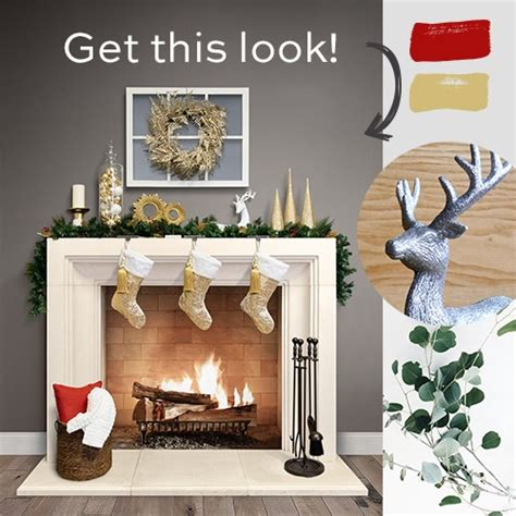 how to decorate your fireplace mantel for christmas
