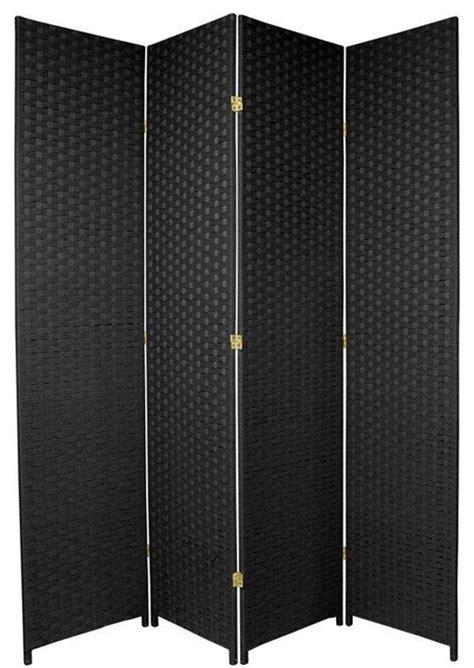 7ft room divider 7 ft woven fiber room divider black 4 panel traditional screens and room dividers
