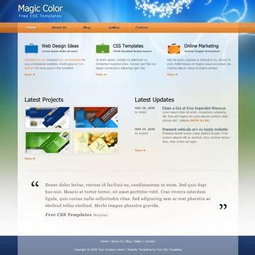 Free Template 332 Blue Smoothie Smoothie Website Template