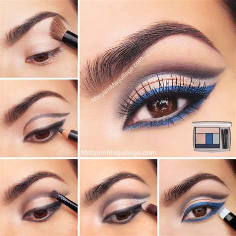 eyeliner tutorial for blue eyes how to rock blue makeup looks 20 blue makeup ideas