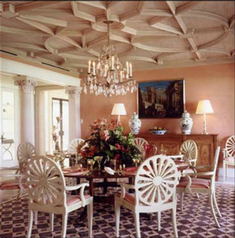 bunny williams dining rooms petit chateau looking up