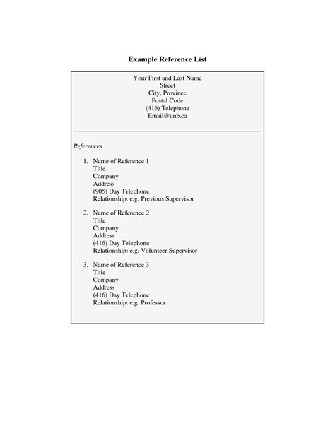 resume exles references sle with reference list personal reference list template 28 images personal reference letter for a sle sle a guide
