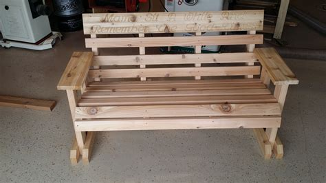 personalized memorial bench hand made cedar memorial garden bench by all things wood custommade com