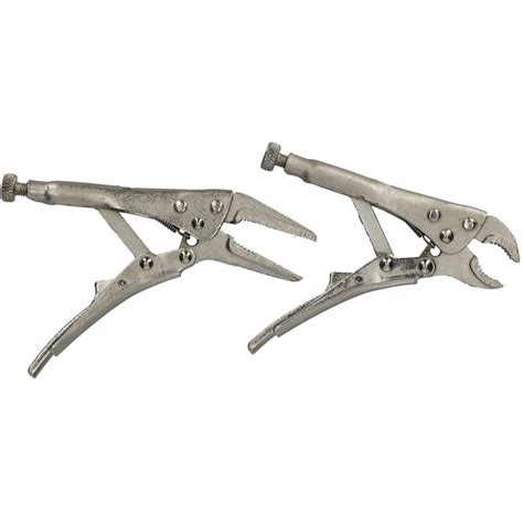 pc mini locking pliers set long   nose vice grips