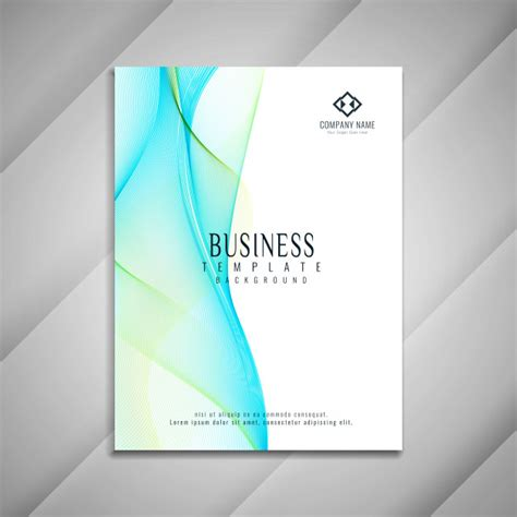 abstract wavy business brochure template design vector
