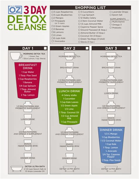 Cleanse Detox by Pin Up Kitten Review Of Dr Oz 3 Day Detox Cleanse