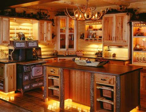 Island Kitchen Designs Layouts by Log Cabin Kitchens