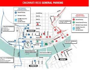 Cincinnati Parking Garages by Cincinnati Parking Map