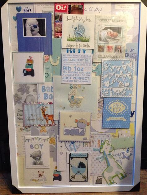Card Collage Ideas - baby boys card collage
