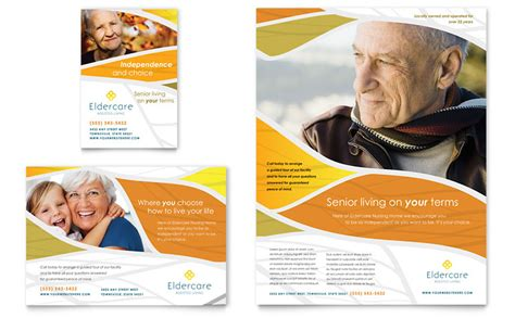 assisted living flyer ad template word publisher