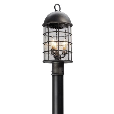 Pewter Outdoor Lighting Brushed Nickel Chrome Pewter Post Lighting Outdoor Lighting The Home Depot