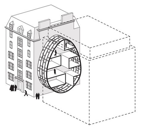 micro housing live between buildings in big cities