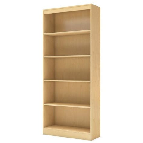 south shore axess contemporary style 5 shelf bookcase in