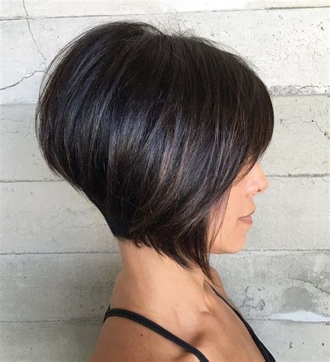 uneven bob for thick hair 70 cute and easy to style short layered hairstyles