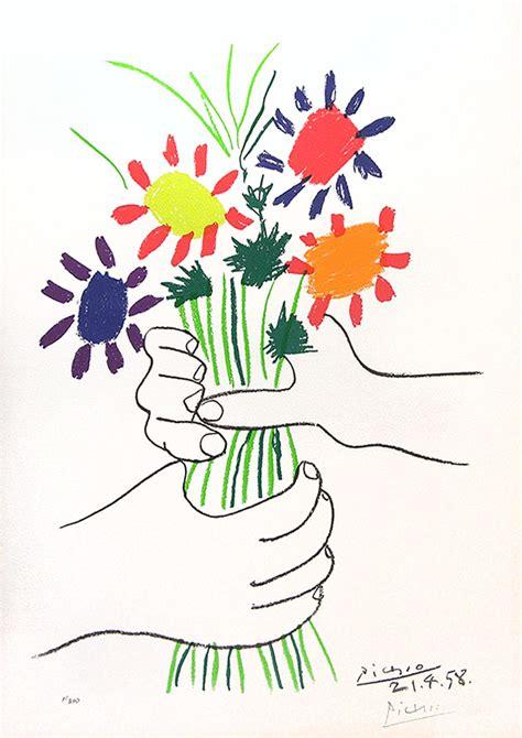 pablo picasso bouquet of peace 1958 color lithograph