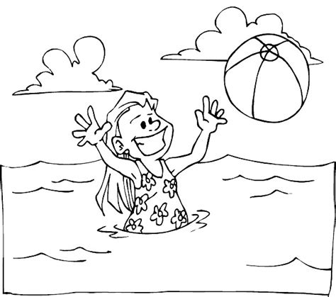seaside colouring pages