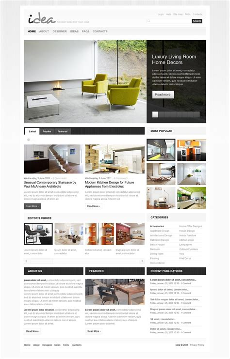 interior design joomla template 33097