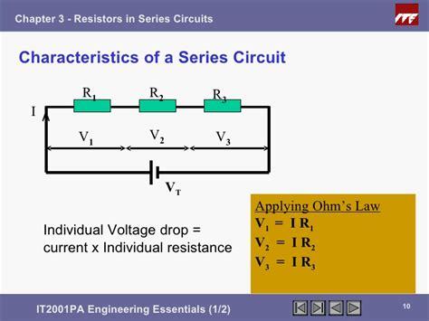 series resistors voltage drop ee1 chapter3 resistors inseries