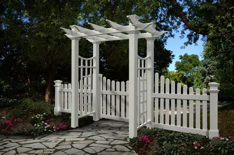 Garden Arch Fence 38 Best White Fence Ideas Images On Fence