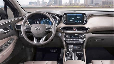 Hyundai Santa Fe Interior by 2019 Hyundai Santa Fe Interior New Hyundai Santa Fe 2019