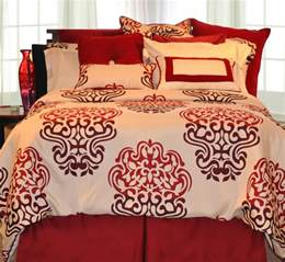 Burgundy Duvet Cover Red And Beige Cream Bedding Ease Bedding With Style